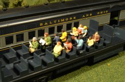 Waist-Up Seated Platform Passengers - O Scale