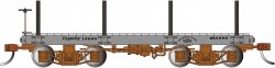 18 ft. Flat Car - Gray, Data Only (2 per box)