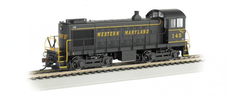 Western Maryland® #145 - ALCO S4 Switcher - DCC - Click Image to Close