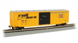 50' Outside Braced Box Car with FRED - Railbox