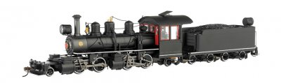 Black Wood Cab W/ White Stripes - Baldwin 2-4-4-2 - DCC