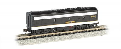 Norfolk Southern (black & gray) - F7B - DCC