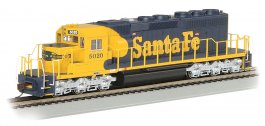 Santa Fe #5020 (yellow & blue War Bonnet) - SD40-2 - DCC (HO)