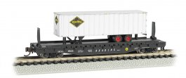Reading 52ft flat car w/ Reading 35ft Trailer