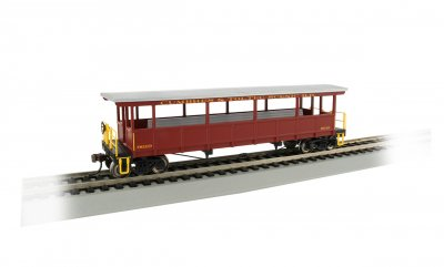 Cumbres & Toltec #9619 - Open-Sided Excursion Car (HO Scale)
