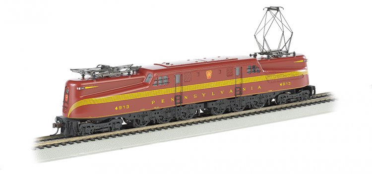 PRR Tuscan Red 5 Stripe #4913-DCC Sound Value (HO GG1) - Click Image to Close