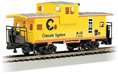 Chessie® - Yellow - 36' Wide-Vision Caboose (HO Scale)