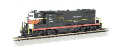 Cotton Belt #304 (Black Widow) - GP7 - DCC (HO Scale)