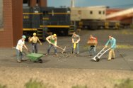 Construction Workers - HO Scale