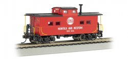 N.E. Steel Caboose - Norfolk & Western - Red #500 832