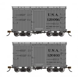 18 ft. Box Car W/ Murphy Roof - USA #120096 & 120103 - (2/box)