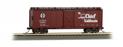Super Chief 40' Santa Fe Map Box Car (HO Scale)
