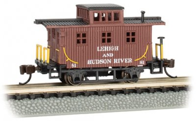 Lehigh & Hudson River #81 - Old-Time Caboose (N scale)