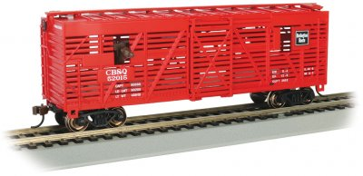 CB&Q #52025 with Cattle