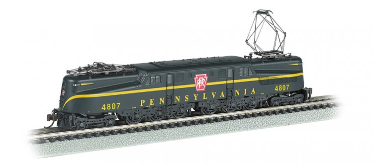 PRR GG-1 #4807 – Brnswck Green Single Stripe DCC Sound (N Scale) - Click Image to Close