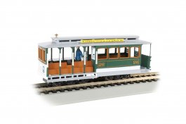 Green & Gray - Cable Car with Grip Man