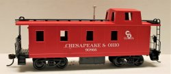 Off Center Caboose - Chesapeake & Ohio (HO Scale)