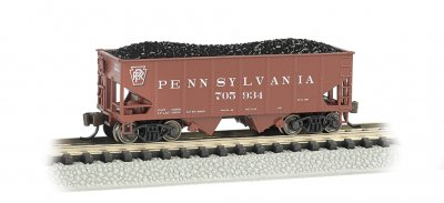 PRR #705934 (Tuscan red) - USRA 55 Ton 2-Bay Hopper