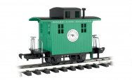Caboose - Short Line Railroad - Green With Black Roof