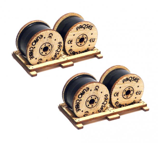 HO Scale Cable Drums - Kit (2 per Pack) - Click Image to Close