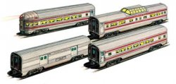 Santa Fe - 60' Aluminum Streamliners 4 Car Set