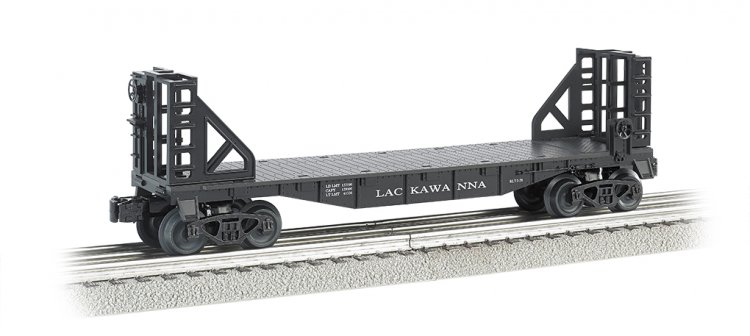 Lackawanna - 40' Flat Car with Bulkhead Ends - Click Image to Close
