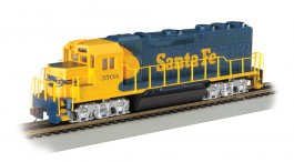 Santa Fe #3508 (Blue & Yellow) - GP40 - DCC