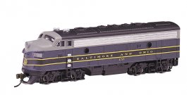 Baltimore & Ohio® (blue, gray & black) - F7A - DCC