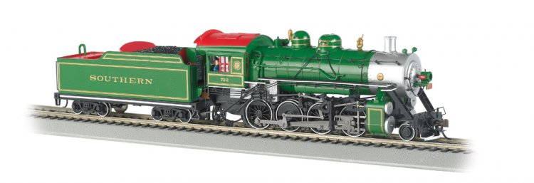 Southern (green) #722 Baldwin 2-8-0 Consolidation (HO Scale) - Click Image to Close