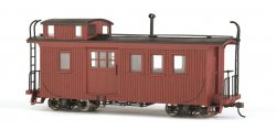 Caboose - Wood Side-Door - Painted, Unlettered - Caboose Red