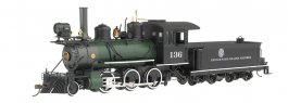 Denver & Rio Grande Western™ #136 (Black & Green) - 2-6-0