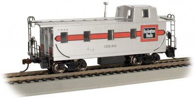 Streamlined Caboose with Offset Cupola - Burlington #13530