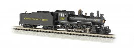 Chesapeake & Ohio® #387 (Black & Yellow) - DCC (N Baldwin 4-6-0)