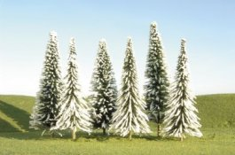 "5"" - 6"" Pine Trees with Snow"