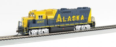 Alaska #2007 GP38-2 - DCC Sound Value (HO Scale)
