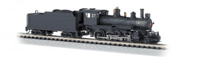 Painted, Unlettered - Black, DCC (N Baldwin 4-6-0)
