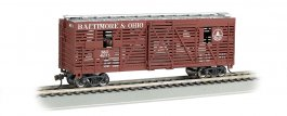 Baltimore & Ohio® - 40ft Animated Stock Car w/ Cattle (HO)