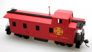 Off Center Caboose - Santa Fe, Red (HO Scale)
