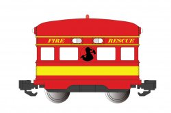 Fire Rescue with Flashing Roof Light - Eggliner