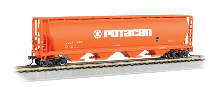 POTACAN - 4 Bay Cylindrical Grain Hopper - Click Image to Close