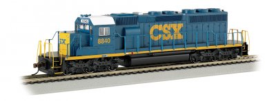 CSX® #8840 (Dark Future) - SD40-2 (HO Scale)