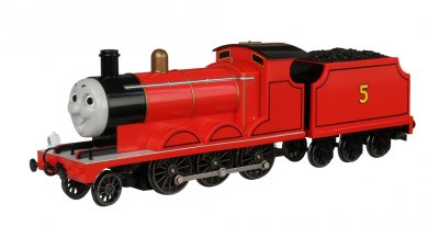 James the Red Engine (with moving eyes) (HO Scale)