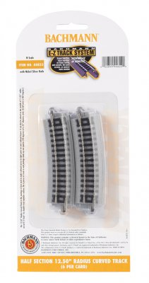 "Half Section 12.50"" Radius Curved Track (N Scale)"