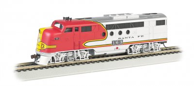 Santa Fe #163 (warbonnet) - FT A-Unit - E-Z App™ Train Control