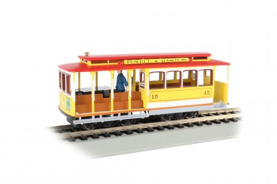 Yellow & Red - Cable Car with Grip Man