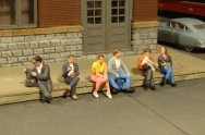 Seated Platform Passengers - HO Scale