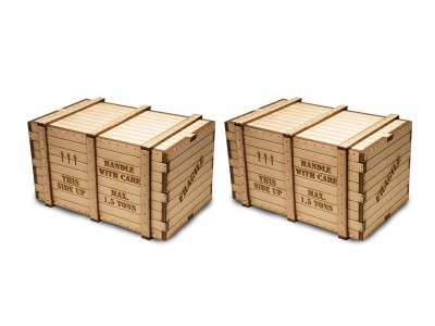 O Scale Machinery Crates (2 per pack)