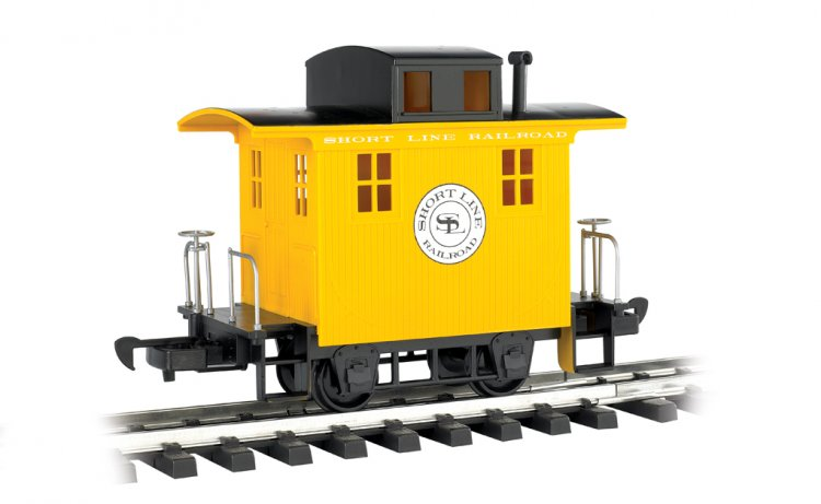 Caboose - Short Line Railroad - Yellow With Black Roof - Click Image to Close
