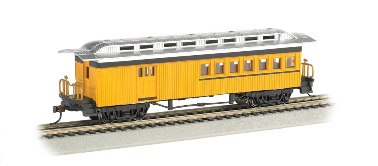 Combine (1860-80 era) - Painted Unlettered Yellow (HO Scale) - Click Image to Close