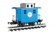 Caboose - Short Line Railroad - Blue With Silver Roof